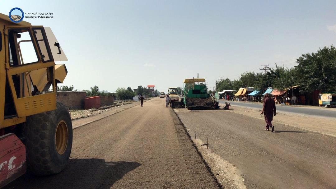 ساختمان لین دوم سرک دو راهی بگرام الی جبل السراج ولایت پروان ۶۳ فیصد پیشرفت کاری دارد