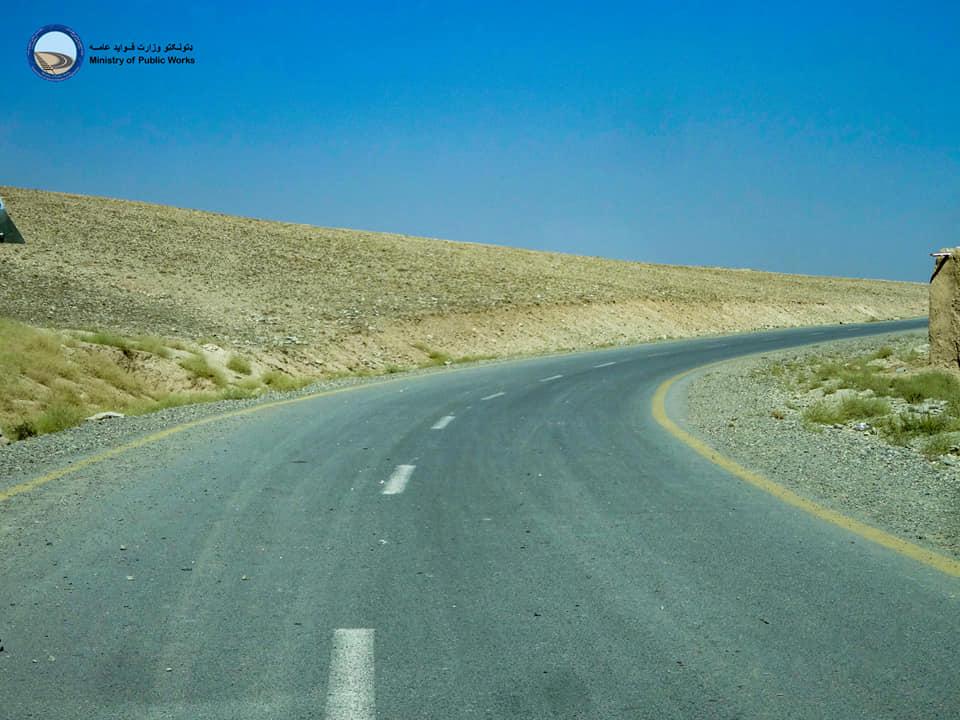 اعمار و ساختمان سرک قریه مرغگیران ولایت کابل تکمیل و آماده بهره برداری است