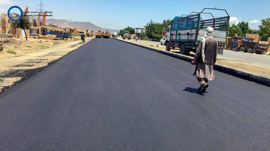 د کابل ــ لوګر دوهم لاټ سړک د جوړولو کار۸۴ سلنه بشپړ شوی