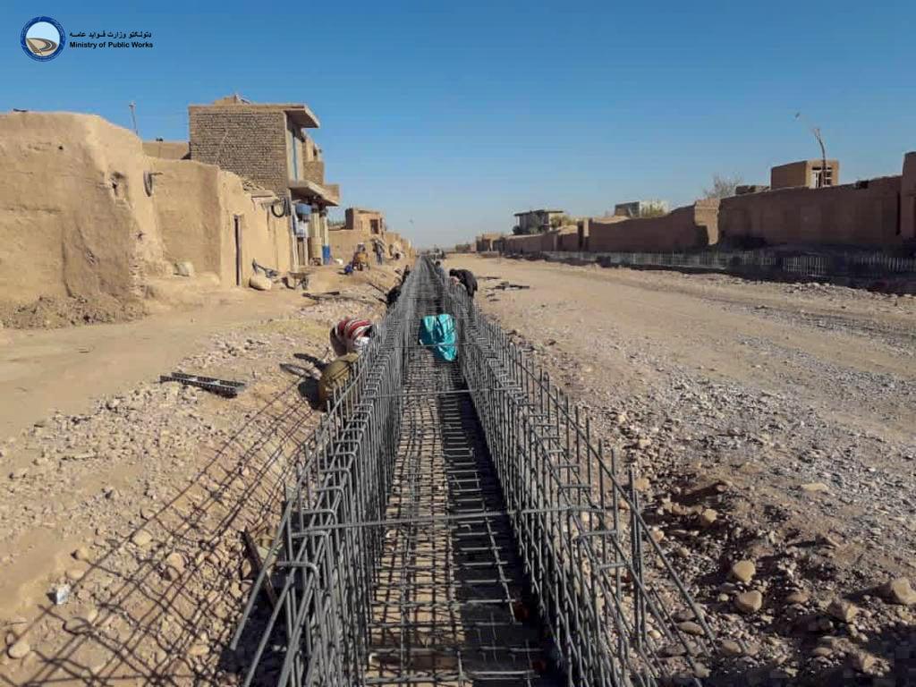 ساختمان لات اول سرک هرات – چشت شریف ۳۰ فیصد پیشرفت کاری دارد