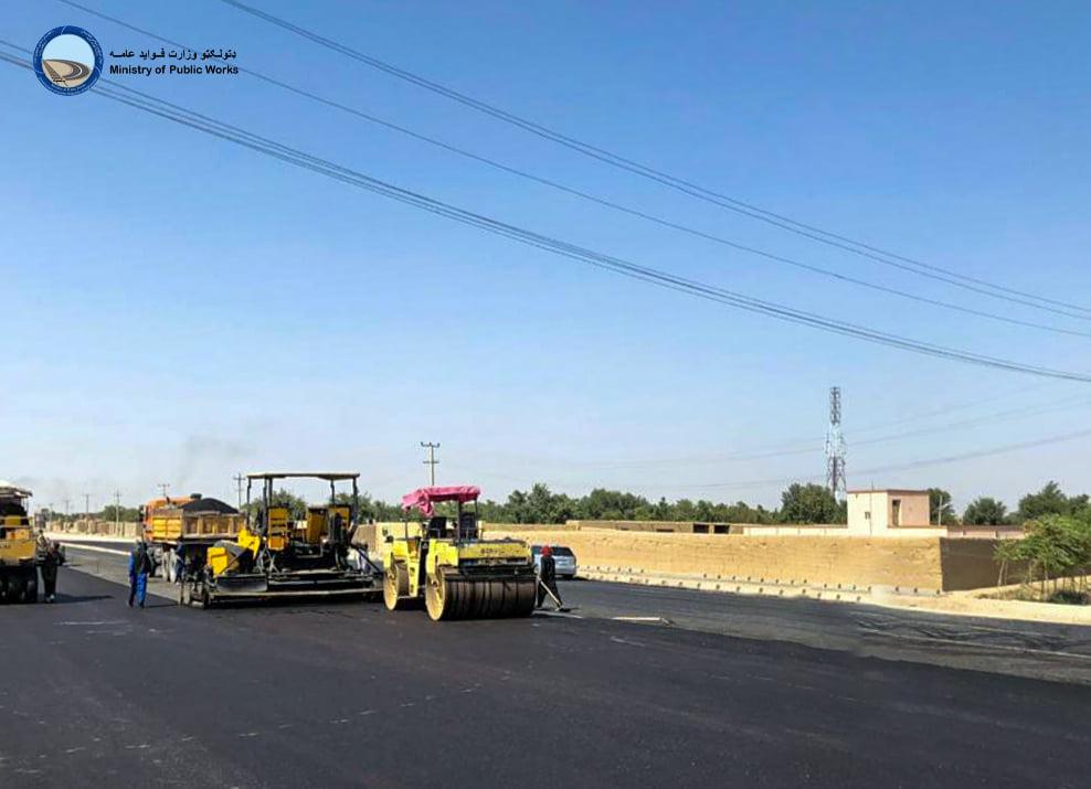 ساختمان سرک حلقوی شهر شبرغان ولایت جوزجان ۴۷ فیصد پیشرفت کاری دارد