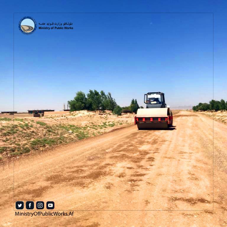 کار اعمار و ساختمان سرک در ولسوالی گذره ولایت هرات ۴۷ فیصد پیشرفت کاری دارد
