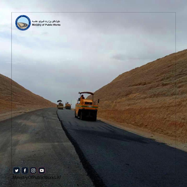 کار اعمار و ساختمان ۱۰ کیلومتر سرک در ولایت غور بیشتر از ۸۰ فیصد پیشرفت کاری دارد